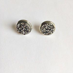 no brand Jewelry - Gray Silver Stud Earrings